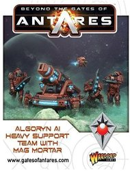 Algoryn Ai Heavy Suport Team With Mag Mortar. 28MM Sci-fi Miniatures