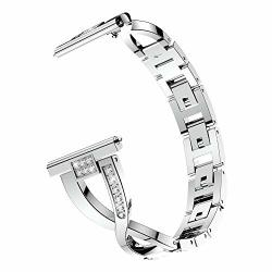 HP95 Watch Bands For Samsung Galaxy Watch -women 22MM Stainless Steel Replacement Wristband X Style Adjustable Crystal Bracelet For Samsung Galaxy Watch 46MM