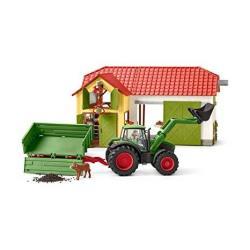 Schleich North America Schleich Farm World Tractor With Trailer