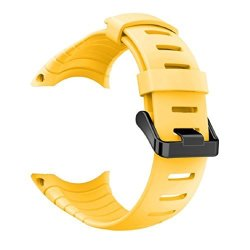 Vovomay Band For Suunto Core Watch Silicone Replacement Band Smart Watch Fitness Strap For Suunto Core Yellow