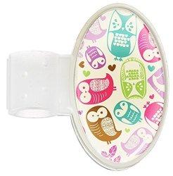 Prestige Medical Stethoscope Id Tag - Domed Owls Cream Model: S8