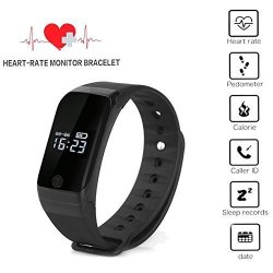 X7 Waterproof Temperature Monitor Wrist Heart Rate Health Monitor Sleeping Fitness Tracker Watch Cal