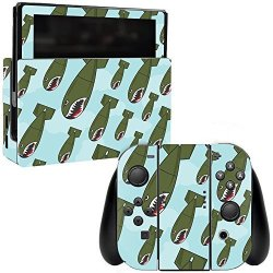 MightySkins Skin For Nintendo Switch - Bombs Away Protective Durable And Unique Vinyl Decal Wrap Cover Easy To Apply Remove And Change