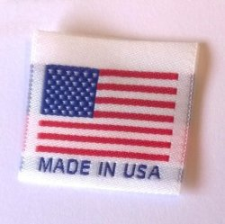 "Label Weavers Made In Usa"" Labels Center Folded Ready To Sew 1.25"" X 1.25"" 250 Labels"