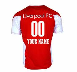 Liverpool Fc Soccer Jersey Adult Men's Training White Red 2020 Custom Name And Number Red L