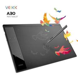 Drawing Tablet Veikk A30 Graphic Pen Tablet With Gesture Touch Pad 4 Hotkeys 10X6 Inch Working Area Battery-free Stylus
