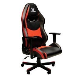 VX Gaming Comfort Series Gaming Chair in Black Carbon Red