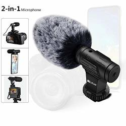 Phone Microphone And Video Microphone Super-cardioid Camera Microphone With Deadcat Windscreen And Earphone Monitor Hole Works With Iphone andoid smartphones camera 3.5MM Interface