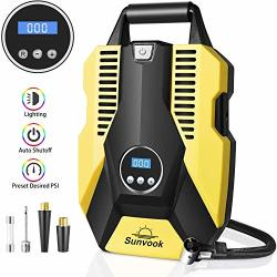 Portable Air Compressor Pump Digital Tire Inflator 150PSI Dc 12V Car Air Pump With LED Light Auto Tire Inflator For Car Bicycle