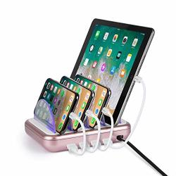 Merkury Innovations 4 8 Amp Port Usb Charging Station Fast Charge Docking For Multiple Devices Multi Device Charger