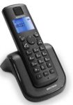 Bell Cordless Telephone AIR-01 - Cordless Dect Phone With Speaker Phone Blue Backlight Display Up To 4 Handsets Per Base Alarm F