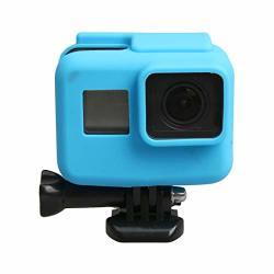 Caoming For Gopro HERO5 Silicone Border Frame Mount Housing Protective Case Cover Shell Durable Color : Blue