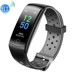 Q8L 0.96 Inch Full Circle Full Touch Steel Strap Smart Sport Watch IP6 Waterproof Support Real-time Heart Rate Monitoring Sleep Monitoring Bluetooth Grey