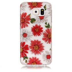 Urberry Samsung Galaxy S6 Cover Bling Diamond Tpu Case For Samsung Galaxy S6 With Free Screen Protector Red