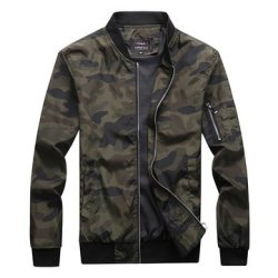 3dd7d525f979 Mens Military Camouflage Arm Zipper Pocket Plus Size Jacket | R | Coats &  Jackets | PriceCheck SA