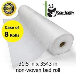 Karlash Disposable Non Woven Bed Sheet Roll Massage Table Paper Roll 30GMS Thick Pack Of 2