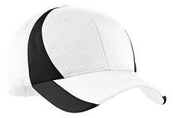 Sport-Tek Men's Dry Zone Nylon Colorblock Cap Osfa White black