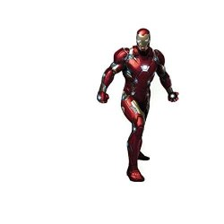 Scarvesnthangs Marvel's Iron Man Peel And Stick Removable Decal Iron Man 3D Wall Art Stickers For Home Decoration And Kids Bedroom