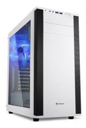 Sharkoon 4044951019335 M25-W Atx Tower PC Gaming Case White With Side Window