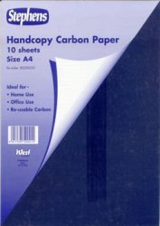 10 Sheets Stephens Handcopy Carbon Paper Blue A4