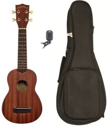 Kala Mk-s-pack Ma Series Acoustic Soprano Ukulele Pack Natural