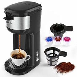 Single Serve K Cup Coffee Maker Brewer For K-cup Pod & Ground Coffee Compact Design Thermal Drip Instant Coffee Machine With Self Cleaning Function