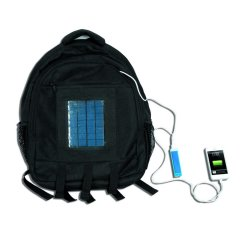 Solar Carry Bag With Mobile Phone Charging Connectors