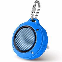 Outdoor Waterproof Bluetooth Speaker Kunodi Wireless Portable MINI Shower Travel Speaker With Subwoofer Enhanced Bass Built In M
