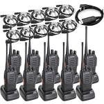 BAOFENG BF-888S Two Way Radio Long Range 16 Ch Radio And Covert Air Acoustic Tube Earpiece Pack Of 10