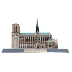 Notre Dame Cathedral 3D Puzzles Models Paper Dimensional Model Assembled Puzzle Educational Toy Not