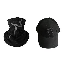 WATCH Dogs Mask And Hat Game Aiden Pearce Face Tube Warmer Scarf Cosplay Costume Baseball Cap