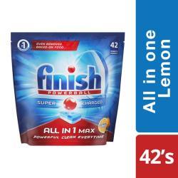 Finish All In One Dishwashing Tablets Lemon - 42'S