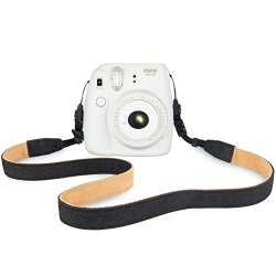 Color : Black Panasonic Canon Nikon Black Fuji Sony etc Mini Cameras Camera Strap Caofeng Vintage Cotton Soft Shoulder Neck Strap for Leica
