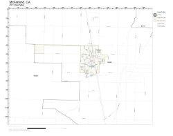 Working Maps Zip Code Wall Map Of Mcfarland Ca Zip Code Map Laminated