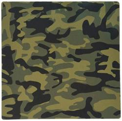 3DROSE Llc 8 X 8 X 0.25 Inches Mouse Pad Dark Green Camo Print Hunting Hunter Or Army Soldier Uniform Style Camouflage Woodland Pattern MP_157596_1