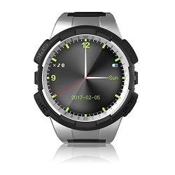 Markrom V11S Round Smart Watch With Sim Card Slot Gps Motion Trail Waterproof Sleep Moniter Pedomet