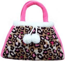 USA Girlzndollz Leopard Print Toddler Purse Pink