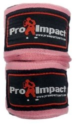 """Pro Impact Boxing mma Handwraps 180"""" Mexican Style Elastic 1 Pair Pink"""