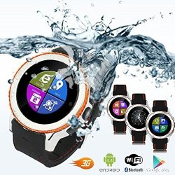 InDigi 3G Smart Watch Phone Waterproof Android 4.4 Wifi Gps Google Playstore Unlocked