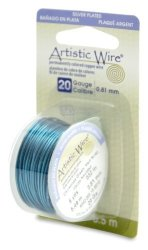 Beadalon Artistic Wire 20-GAUGE Silver Plated Christmas Green Wire 6-YARDS