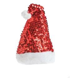 SANTAS TRADE - Sequin Hat Red