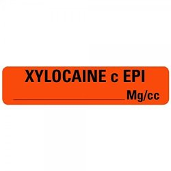 Xylocaine C Epi Medical Labels LV-MAN72