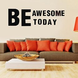 WM-Home Wm & Mw Be Awesome Today Quotes Wall Stickers-removable Art Vinyl Mural Decal Clearance Home Room Decor