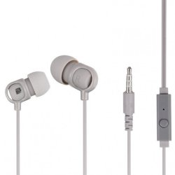 Bounce Jive Earphones With Mic in Grey