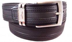 Gp&max Italian Leather Belt -nabuk Collection - 40 Mm - Mod. 4186 - Black 38-42