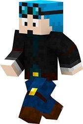 Seus Corp Ltd. Blue Hair Miner Boy 24 Inch Wall Decal By Endertoys