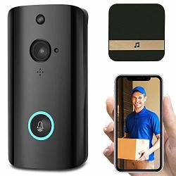 Spris Wireless Wifi Video Doorbell Wifi Video Doorbell Camera Wireless Video Doorbell Wifi Home Security Phone Bell Intercom 720P Intercom Size : Eu