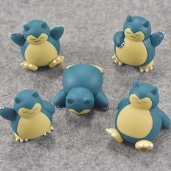 5PIECES SET Snorlax Action & Toy Figures Collection Toy Pks