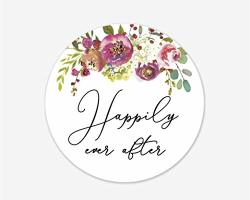 Happily Ever After Stickers Wedding And Bridal Shower Event Favor Labels 379-020