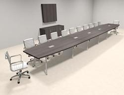 Modern Boat Shaped 24' Feet Conference Table OF-CON-CV63